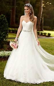 satin a line princess wedding dresses stella york With a line princess wedding dresses