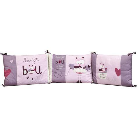 mam zelle bou tour de lit violet de sauthon baby d 233 co tours de lit aubert