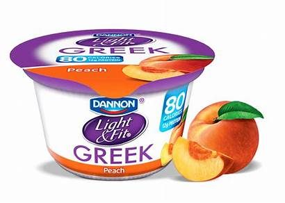 Yogurt Peach Greek Dannon Nutrition February Nonfat