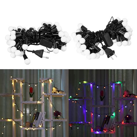 Love to create beautiful decoration items with old and mostly waste material. 40LED RGB/Warm White 3D LED Globe Ball Fairy String Light Christmas Tree Hanging Ornament Garden ...