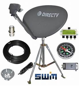 Directv Swm Sl3s Portable Satellite Rv Kit For Camping Or