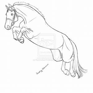 Horse Jumping Lineart by Razzmatazz13 on DeviantArt