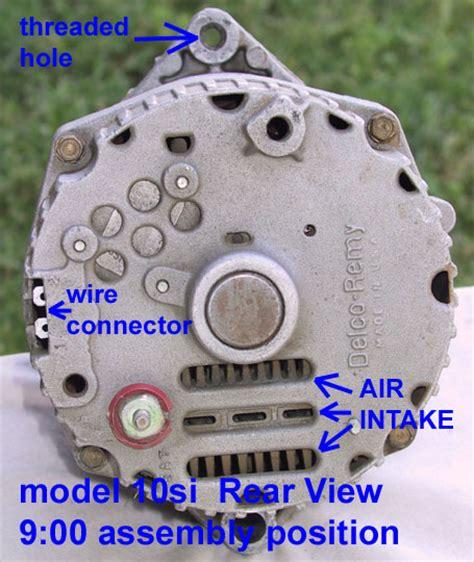 technical older style delco alternator confusion  wire
