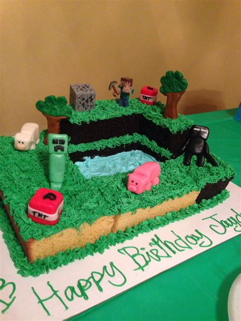 25 best ideas about easy minecraft cake on