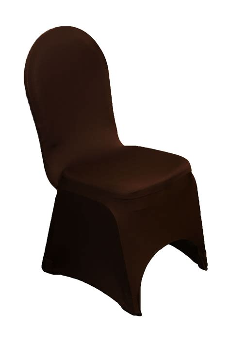 spandex chair cover chocolate