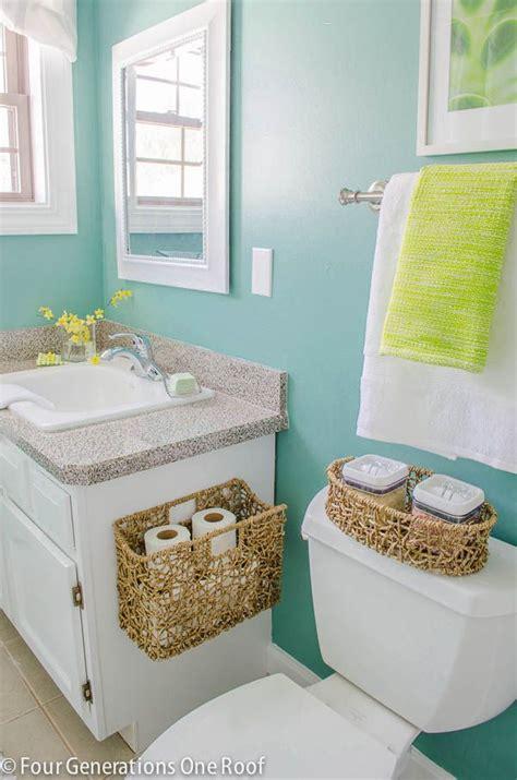 love  wall color organizing  small bathroom dream