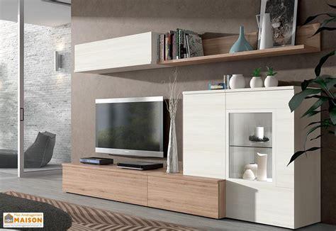 ensemble meuble tv mural berlin 2 coloris ramis