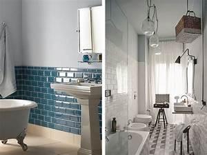 Carreau Metro Blanc : 15 salles de bains avec du carrelage m tro joli place ~ Melissatoandfro.com Idées de Décoration