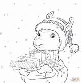 Llama Coloring Printable Pajama Pajamas Printables Sheets Drama Template Gifts Holiday Cn Tower Frozen Coloringhome Getcolorings Pdf Hedgehog sketch template