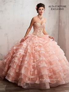 Quinceanera Couture Dresses Style 4t190 In Peach Color