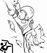 Climbing Coloring Rock Cartoon Cute Pages Extreme Sports Ages Sport sketch template