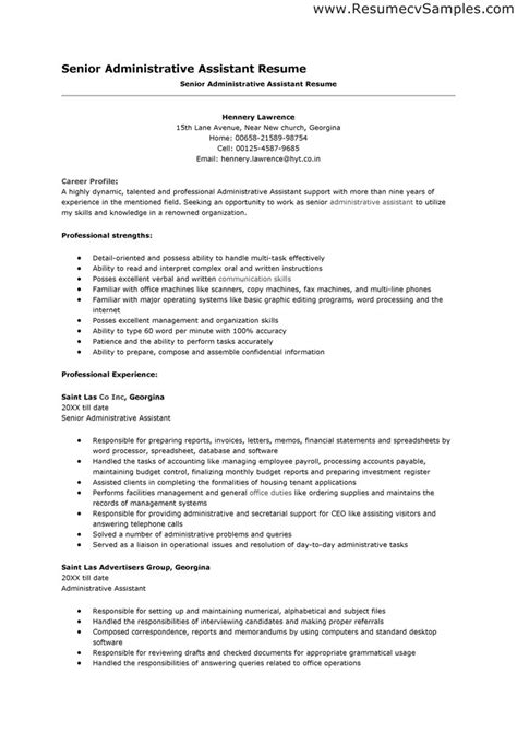 resume exles templates 10 free resume template