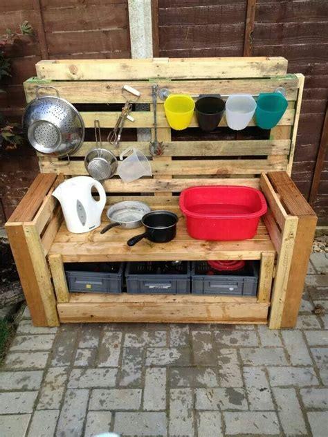 pallet mud kitchen garden ideas pinterest mud