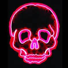 Dia de Los Muertos Day of the Dead Neon sugar skull light