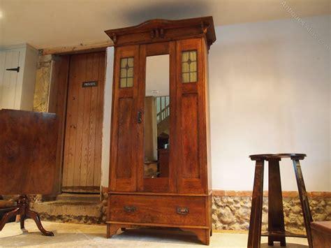 cloverleaf home interiors wardrobe arts and crafts single oak c1900 antiques atlas