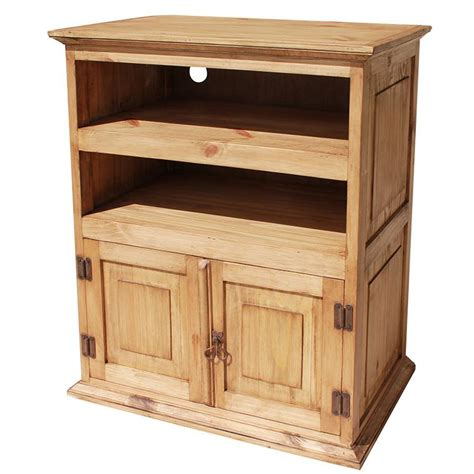 Rustic Pine Collection  Tall Tv Stand Com220