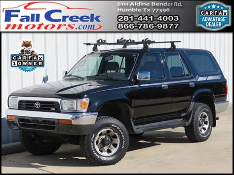 Toyota Humble by Used 1993 Toyota 4runner Sr5 V6 4wd For Sale In Humble