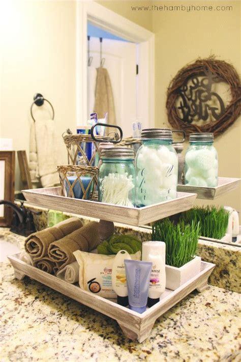 bathroom countertop storage ideas bathroom countertop storage tiered tray with toilettries