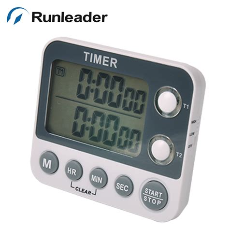 timer cuisine digital led alert big digit dual 2 two channel