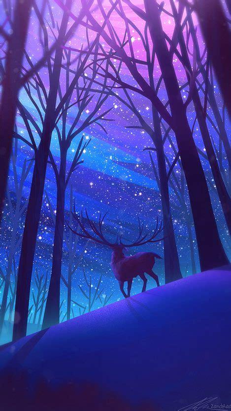 Digital Wallpaper Iphone by Reindeer Forest Digital Iphone Wallpaper