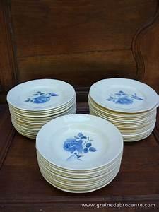 Service De Table Bleu Et Blanc Digoin Rve De Brocante