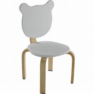 Chaise Enfant Alinea : chaise forme ours couleur blanche pour enfant lou tables chaises et bureaux enfant alinea ~ Teatrodelosmanantiales.com Idées de Décoration