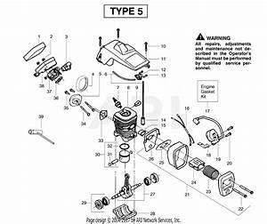 Poulan 2075 Gas Saw Type 5 Parts Diagram For Engine