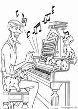 Coloring Piano Keyboard Coloring4free Playing sketch template