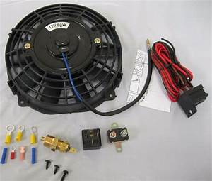 7 U0026quot  Inch Universal Electric Radiator Cooling Fan   Thermostat Relay Install Kit