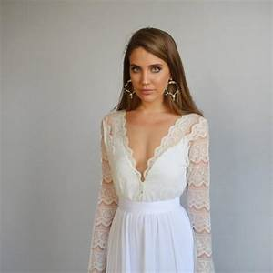 lace wedding dress long sleeves wedding dress deep v With long sleeve v neck wedding dress