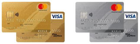master card visa kreditkarte gold kreditkarte silber