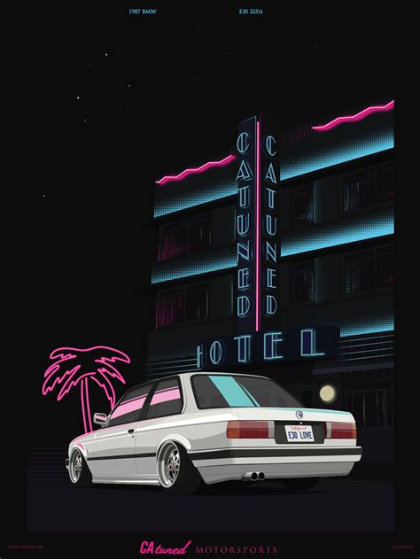 Bmw Posters by Catuned Catuned 80s E30 Poster Poster Print