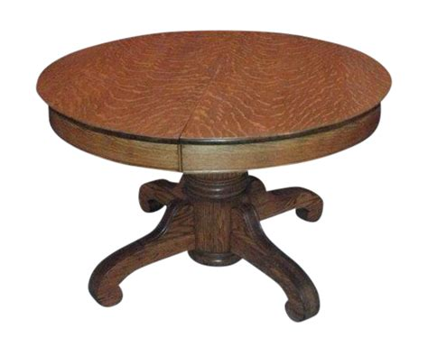 vintage foyer pedestal table antique tiger oak pedestal table chairish 6799