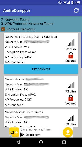 androdumpper wps connect play