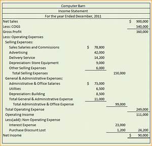 Multiple step income statementmultistep income statement for Multi step income statement excel template