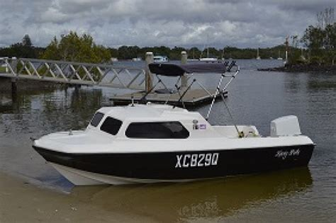 Half Cabin Boats For Sale Gold Coast by Craft 17 Footer Half Cabin Gold Coast Second