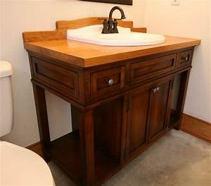 Hand, Crafted, Custom, Wood, Bath, Vanity, With, Reclaimed, Sink, By, Moss, Farm, Designs