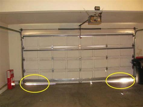 gaps  bottom  garage door