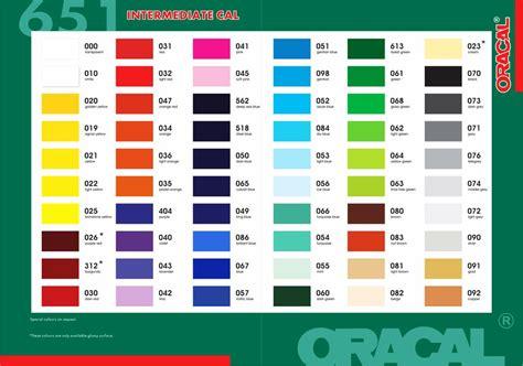 stiker warna warni warna warni stickers motif oracal 651 glossy