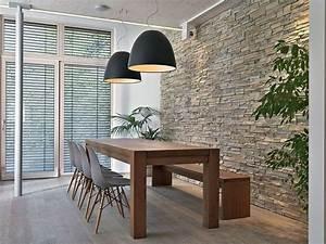 la pierre naturelle dans une salle a manger 12 modeles With wonderful maison grise et blanche 19 pierres naturelles