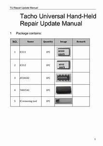Tacho Universal Update Repair Kit User Manual
