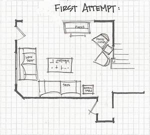 Remodelaholic living room part 3 experimenting with for Living room furniture layout worksheet
