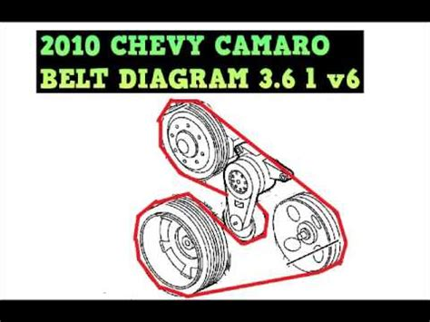 Chevy Camaro Belt Diagram Youtube