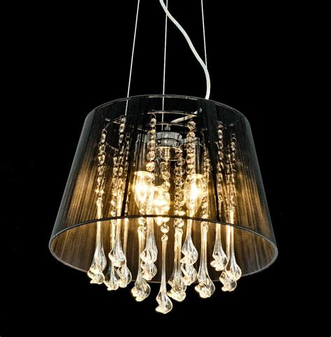 5 light chandelier with shades shabby chic black thread twisted chandelier