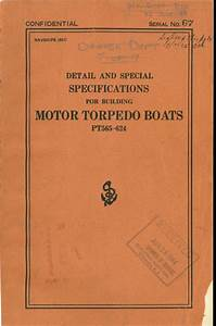 Detail Specifications For Building Motor Torpedo Boats