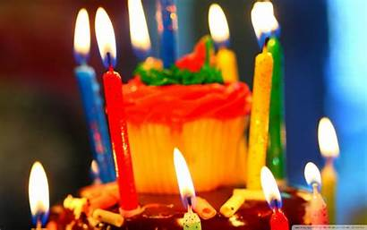 Birthday Happy Funny Cake Candles Wide Wallpapers
