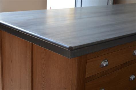 plan de travail de cuisine en zinc bordure n 176 3