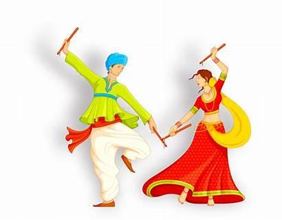 Dance Dandiya Garba Invitation Clipart Raas Bridegroom