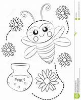 Coloring Bee Honeycomb Pages Useful Printable Getcolorings Illustration Print sketch template