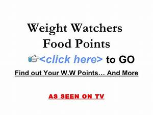 Weight Watchers Aktiv Points Berechnen : weight watchers food points ~ Themetempest.com Abrechnung